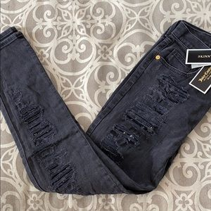 Juicy Couture Jewel Ripped Skinny Jeans
